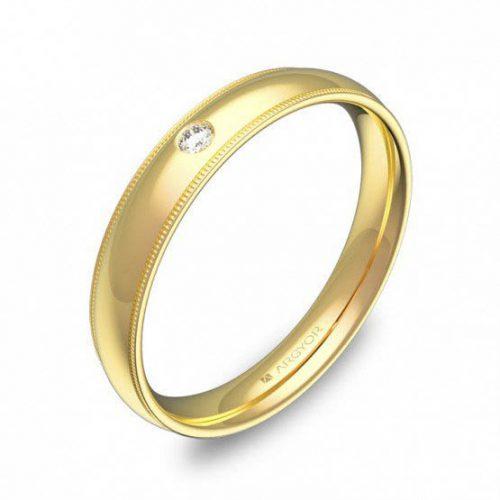 Alianza oro 18k amarillo diamante AG54-C2335P1BA