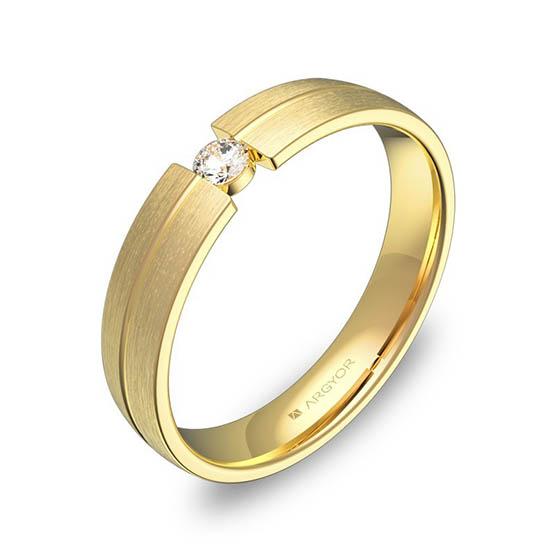 Alianza oro 18k amarillo diamante c0440s1ba