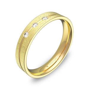 Alianza oro 18k amarillo diamantes C3640H3BA