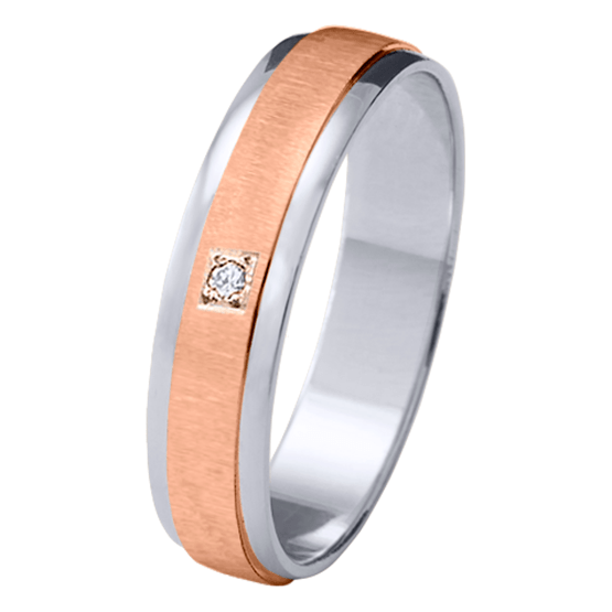 Alianza oro 18k bicolor diamante 06622BR50P10PR1C