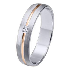 Alianza oro 18k bicolor diamante 06644BR40P10EE1C
