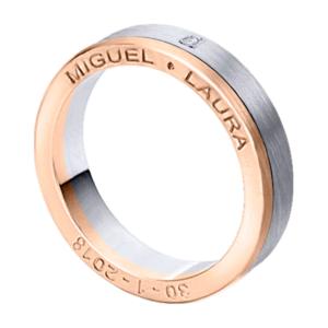 Alianza oro 18k bicolor diamante 7950BR40PE1C-2R