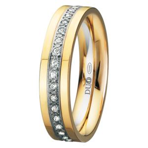 Alianza oro 18k bicolor diamantes 435-50-ABA-P-0-0
