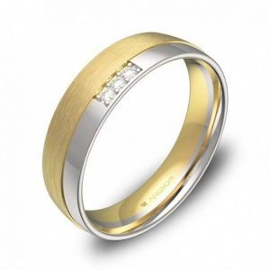Alianza oro 18k bicolor diamantes AG54-D2050CBA