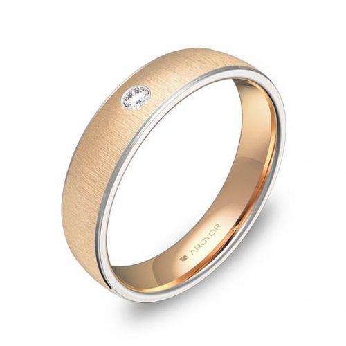Alianza oro 18k bicolor diamantes D0645T1BR