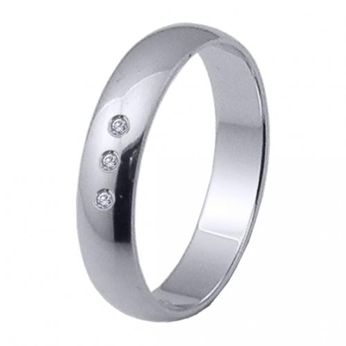Alianza oro 18k blanco diamantes 06304OB40P10PP3R