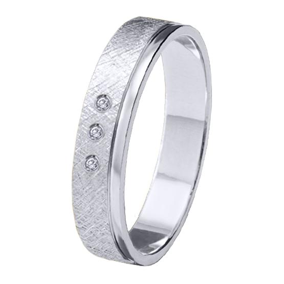 Alianza oro 18k blanco diamantes 06629OB40P10PD3R