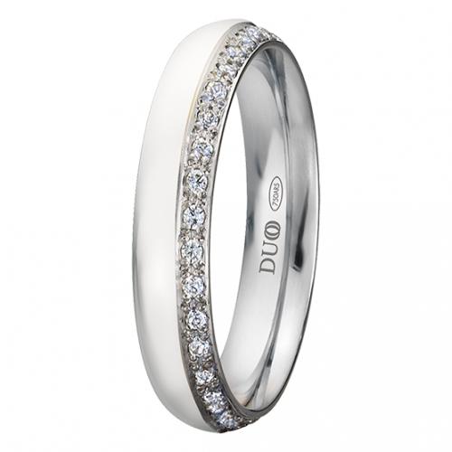 Alianza oro 18k blanco diamantes 420-40-B-P-0-0