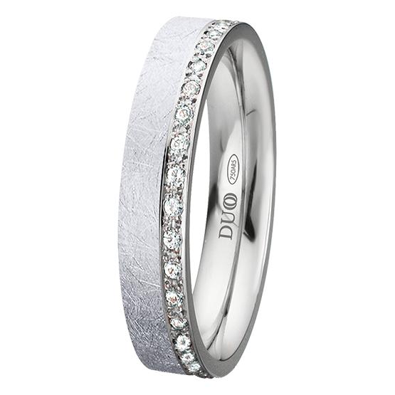 Alianza oro 18k blanco diamantes 425-40-B-D-0-0
