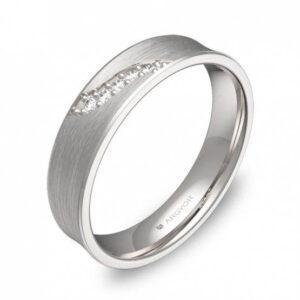 Alianza oro 18k blanco diamantes AG54-C1145S5BB