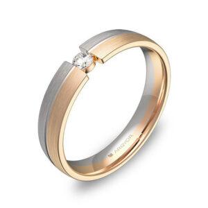 Alianza oro 18k rosa diamante AG54-D0440S1BR