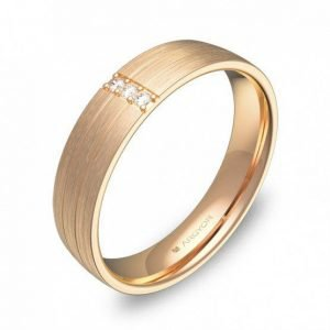 Alianza oro 18k rosa diamantes AG54-C1745S3BR