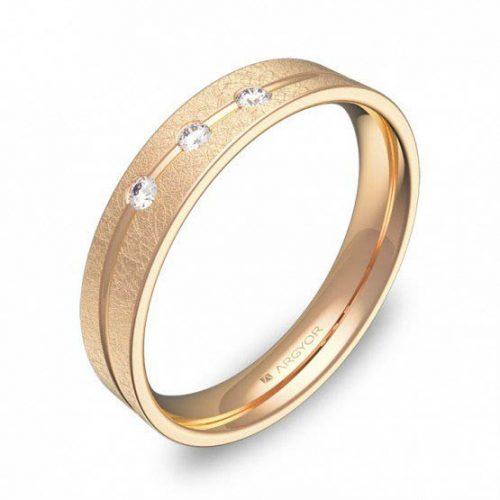 Alianza oro 18k rosa diamantes AG54-C3640H3BR