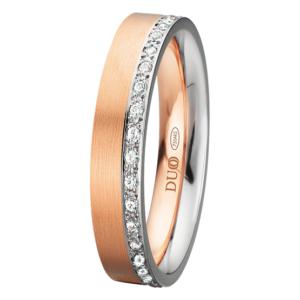 Alianza oro 18k rosa y blanco diamantes PE-425