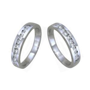 Anillo diamante oro blanco DC10097