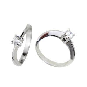Anillo diamante oro blanco DC10448