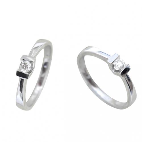 Anillo diamante oro blanco DC10715
