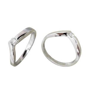 Anillo diamante oro blanco DC13593