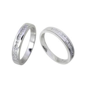 Anillo diamante oro blanco DC14085