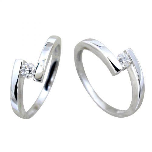 Anillo diamante oro blanco DC16989