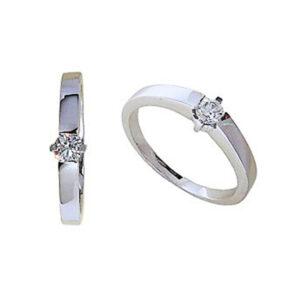 Anillo diamante oro blanco DC19014