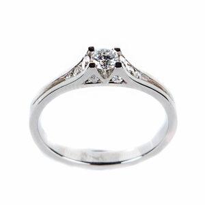 Anillo diamantes oro blanco RM-1741