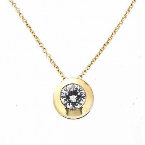 Colgante chatón con cadena oro 27-9370-4 joyeria rincon