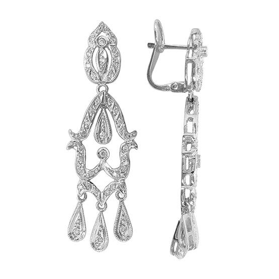 Pendientes de diamantes y oro blanco