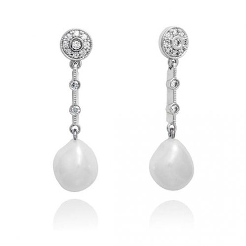 Pendientes plata perla Marina Garcia 9230PT