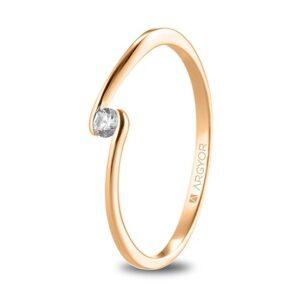 Anillo diamante oro rosa 74R0085Z