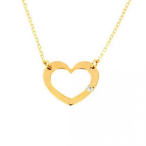 Colgante corazón oro 35-128 joyeria rincon