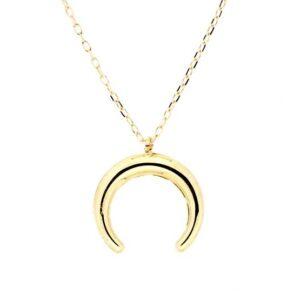 Colgante luna invertida con cadena oro 26-9207 joyeria rincon
