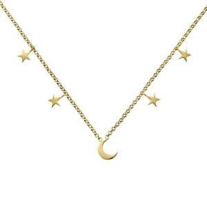 Collar luna y estrellas oro 3a8307300a