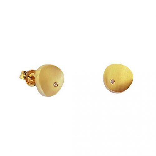 Pendientes oro amarillo mate 611-00040 joyeria rincon