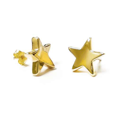 Pendientes oro estrellas Joyería Rincón