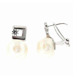 Pendientes perlas oro blanco 63028161 Joyeria Rincon