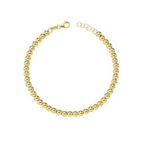 Pulsera bolas oro amarillo 028-09698 Joyeria Rincon