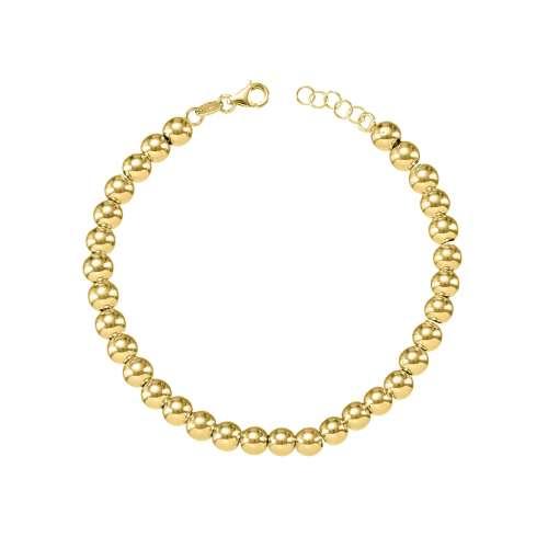 Pulsera bolas oro amarillo 028-09701 Joyeria Rincon