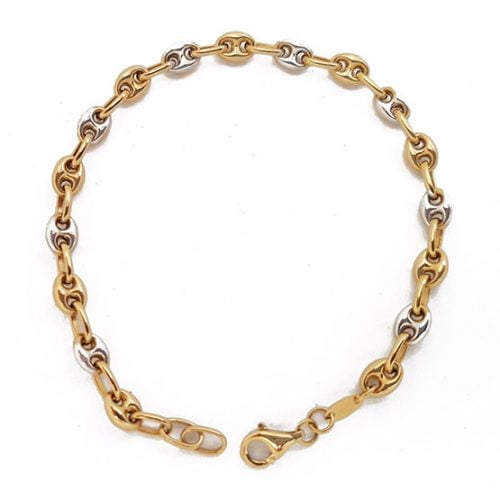Pulsera calabrotes oro bicolor 139-02846