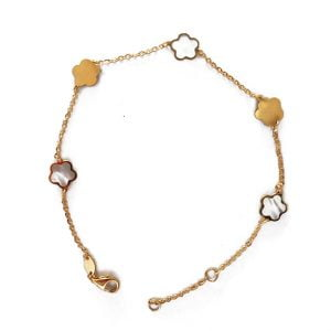 Pulsera de oro y nacar 447-01276