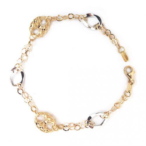 Pulsera oro bicolor 028-09752