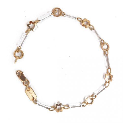Pulsera oro bicolor 148013
