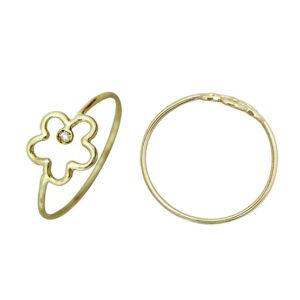 Anillo oro amarillo y diamante 018347 Joyeria Rincon