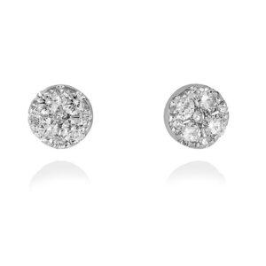 Pendientes diamantes oro blanco A4727