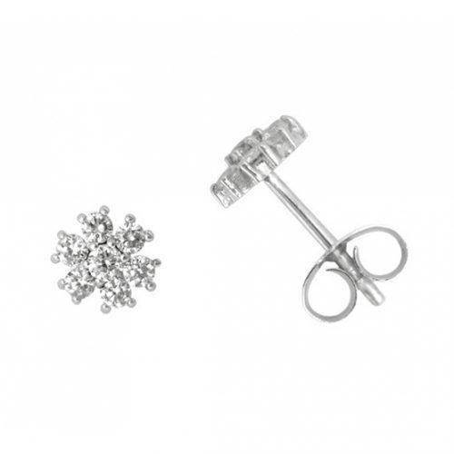 Pendientes diamantes oro blanco joyeria Rincon 026796-1