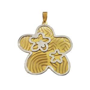 Colgante oro bicolor SF-000-0722B Joyeria Rincón