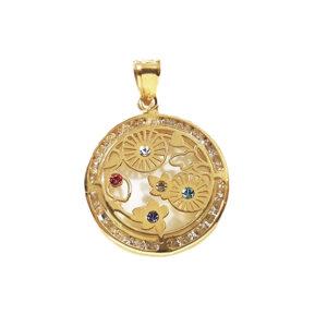 Colgante piedras oro SF-623-00098 Joyeria Rincón