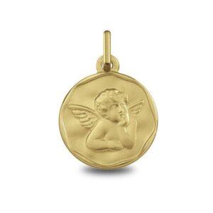 medalla-oro-angelito-pensativo-1250454 Joyería Rincón
