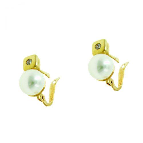 Pendientes oro perla 522026-A Joyería Rincón