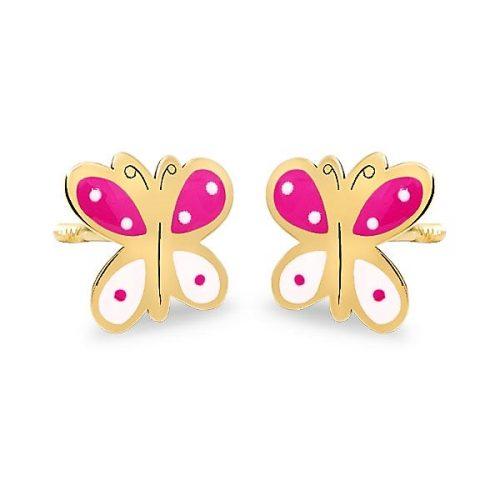 69AP73RB-BRI-pendientes-eles-niña-oro-18k-mariposa-esmalte Joyería Rincón